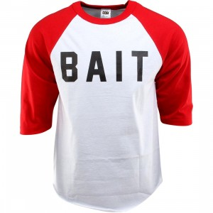 BAIT Logo Raglan Tee (white / red / black)