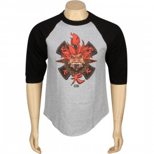 BAIT x Street Fighter Akuma Raglan Tee - Jesse Hernandez (heather / black)