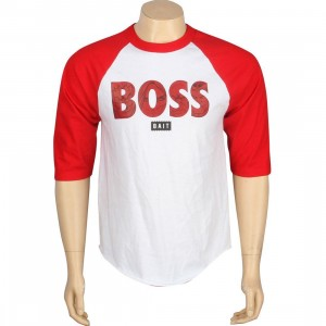 BAIT x Street Fighter Boss Raglan Tee (white / red)