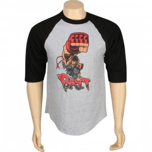 BAIT x Street Fighter Evil Ryu Shoryuken Raglan Tee - Tracy Tubera (heather / black)