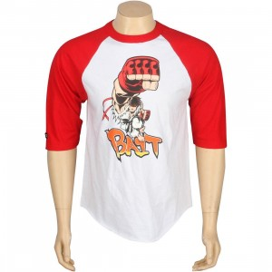 BAIT x Street Fighter Ryu Shoryuken Raglan Tee - Tracy Tubera (white / red)
