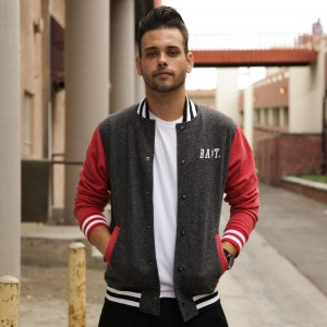 BAIT Baseball Jacket (black / red)