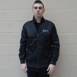 BAIT Nylon Track Jacket (black)