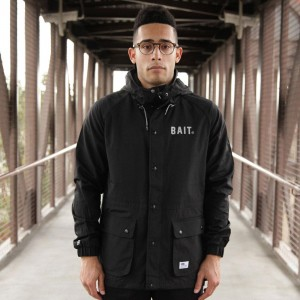BAIT Mountain Parka Windbreaker Jacket (black)