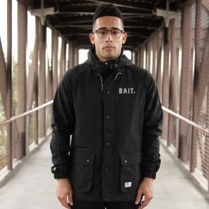 BAIT Mountain Parka Windbreaker Jacket (black)