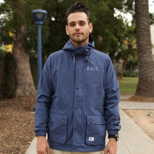 BAIT Mountain Parka Windbreaker Jacket (navy)