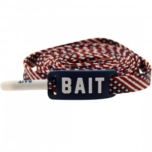 BAIT USA Flag Flat Shoelaces (blue)