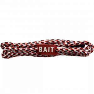 BAIT USA Premium Rope Shoelaces (red / white / blue)