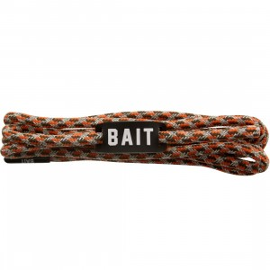 BAIT Guardian Premium Rope Shoelaces (orange / silver / black)