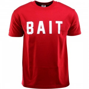 BAIT Logo Tee (red / cardinal red / white)