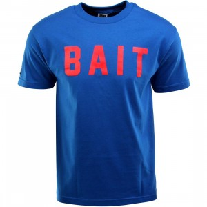 BAIT Logo Tee (blue / royal blue / red)