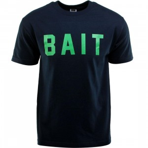 BAIT Logo Tee (navy / green)