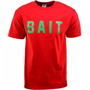 BAIT Logo Tee (red / green)
