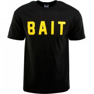 BAIT Logo Tee (black / yellow)