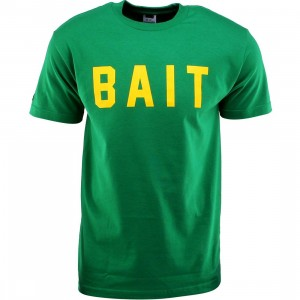 BAIT Logo Tee (green / kelly green / yellow)