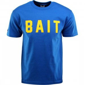 BAIT Logo Tee (blue / royal blue / yellow)
