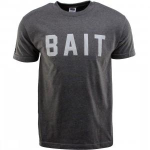 BAIT Logo Tee (gray / charcoal heather / gray)