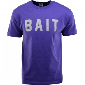 BAIT Logo Tee (purple / gray)