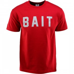 BAIT Logo Tee (red / cardinal red / gray)