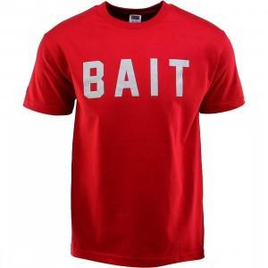 BAIT Logo Tee (red / cardinal red / gray)