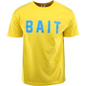 BAIT Logo Tee (yellow / blue)