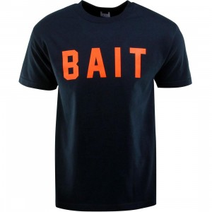 BAIT Logo Tee (navy / orange)