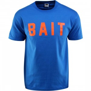 BAIT Logo Tee (blue / royal blue / orange)