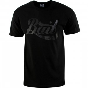 BAIT Script Logo Tee (black / black)