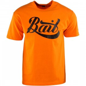 BAIT Script Logo Tee (orange / black)