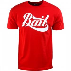 BAIT Script Logo Tee (red / white)
