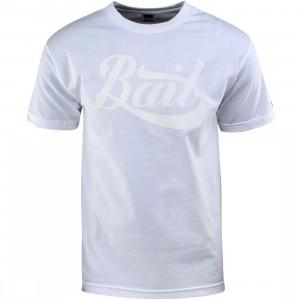 BAIT Script Logo Tee (white / white)