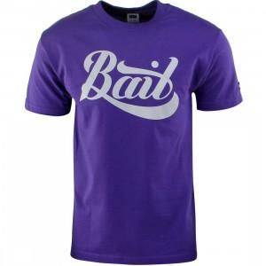 BAIT Script Logo Tee (purple / gray)