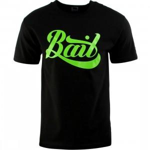 BAIT Script Logo Tee (black / green)