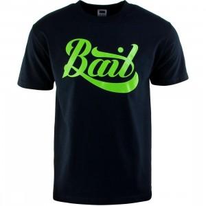 BAIT Script Logo Tee (navy / green)