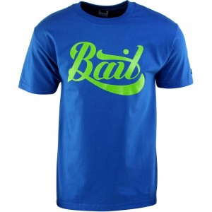 BAIT Script Logo Tee (blue / royal blue / green)