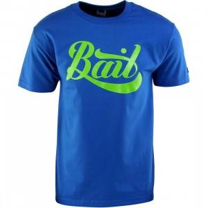 BAIT Script Logo Tee (blue / royal blue / green)