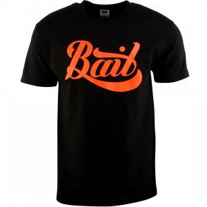 BAIT Script Logo Tee (black / orange)