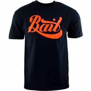 BAIT Script Logo Tee (navy / orange)