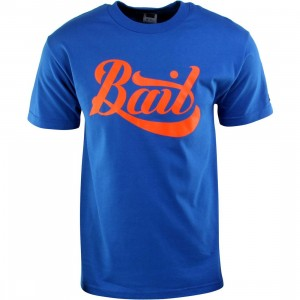 BAIT Script Logo Tee (blue / royal blue / orange)