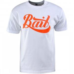 BAIT Script Logo Tee (white / orange)
