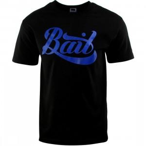 BAIT Script Logo Tee (black / blue)