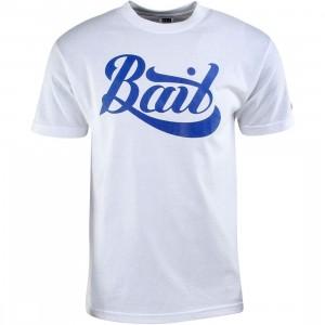 BAIT Script Logo Tee (white / blue)