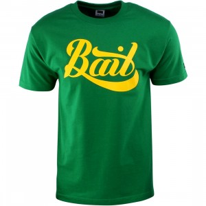 BAIT Script Logo Tee (green / kelly green / yellow)