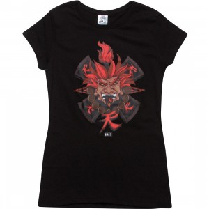 BAIT x Street Fighter Women Akuma Tee - Jesse Hernandez (black)