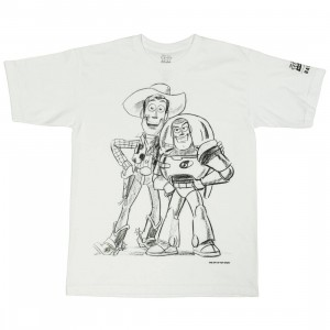 BAIT x Toy Story Youth Buzz And Woody Best Friend Sketch Tee (white)