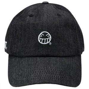 BAIT x Cowboy Bebop Smiley Strapback Denim Cap (black)