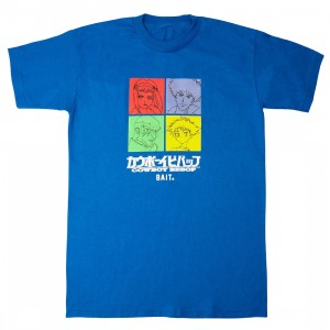 BAIT x Cowboy Bebop Men Space Crew Tee (blue)