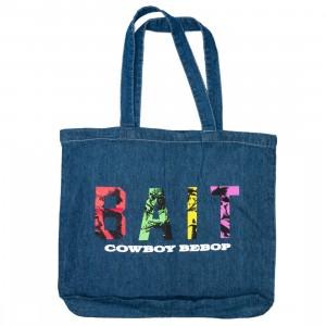 BAIT x Cowboy Bebop Tote Bag (blue / denim canvas)