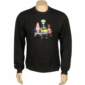 BAIT x SpongeBob Group Crewneck (gray / charcoal / heather)