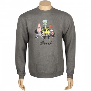 BAIT x SpongeBob Group Crewneck (gray / gunmetal / heather)